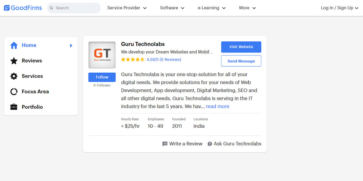goodfirm Review
