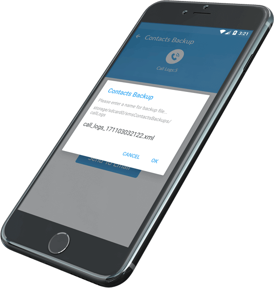 Contacts backup mobile app solutions