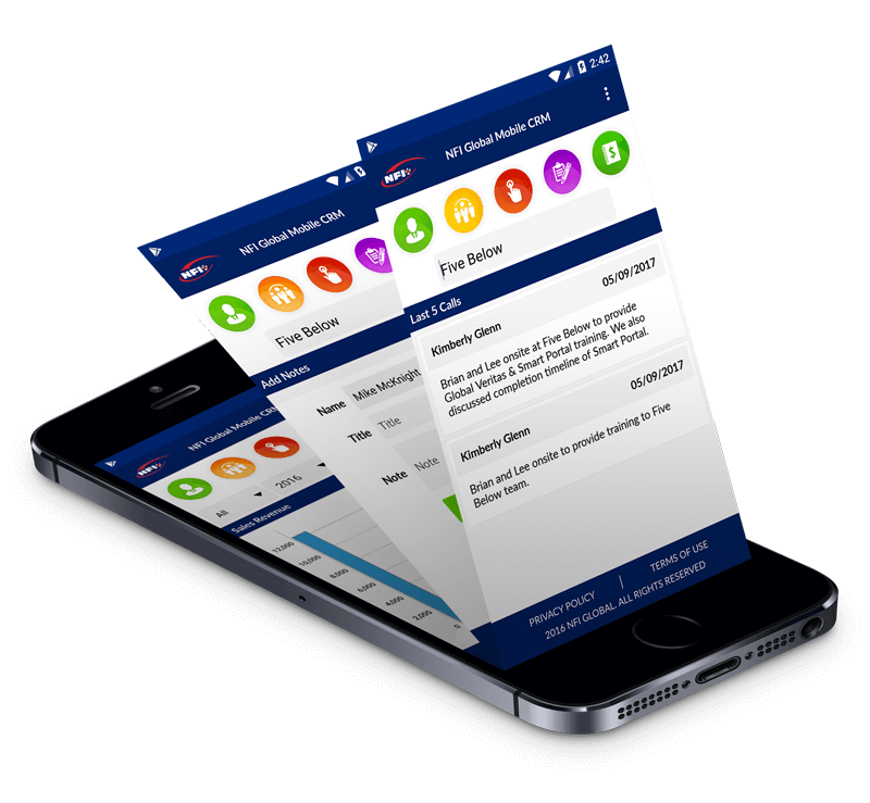 Business CRM app features