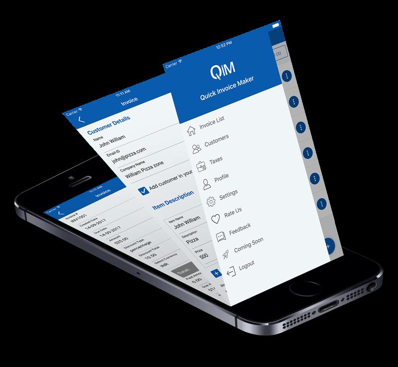 Invoice generator app features