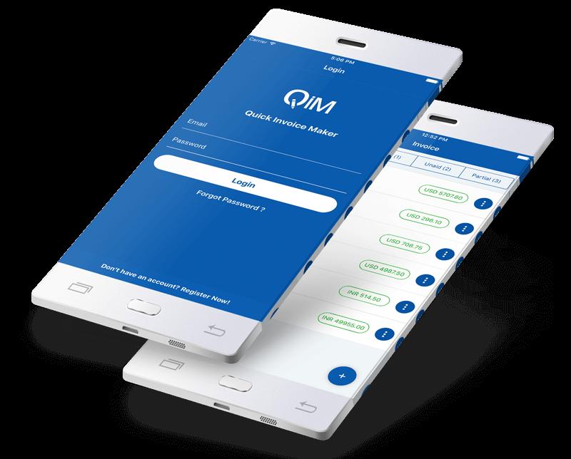 Invoice creator app design