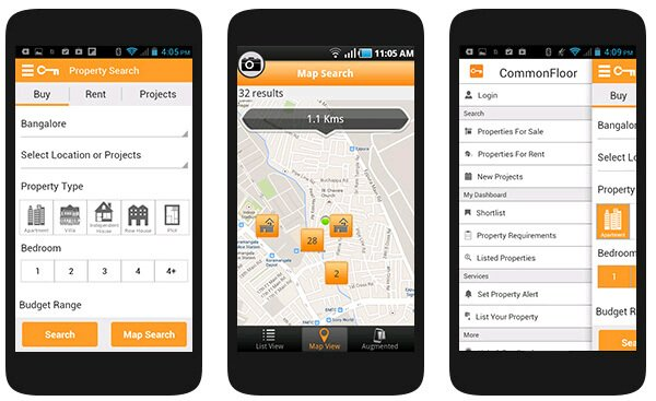 The app should give you information regarding the property