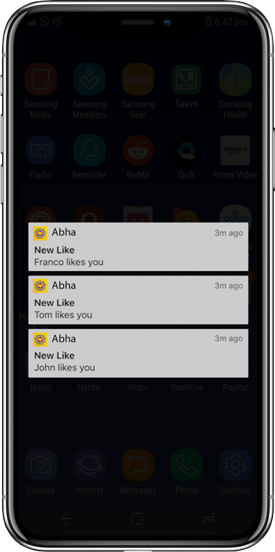 Abha Instant Push Notifications