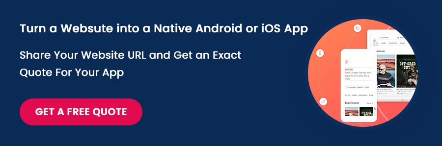 Turn a Websute into a Native Android or iOS App