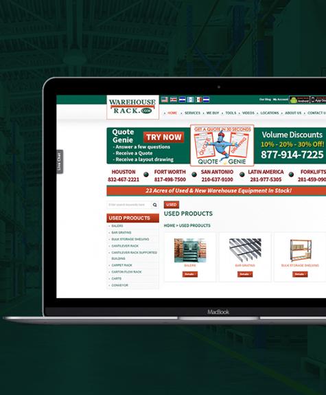 Warehouse Equipment Ecommerce Website